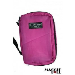 Travel Cosmetic Makeup Toiletry Purse Pouch Organizer Hanging Wash Bag - Dark Pink